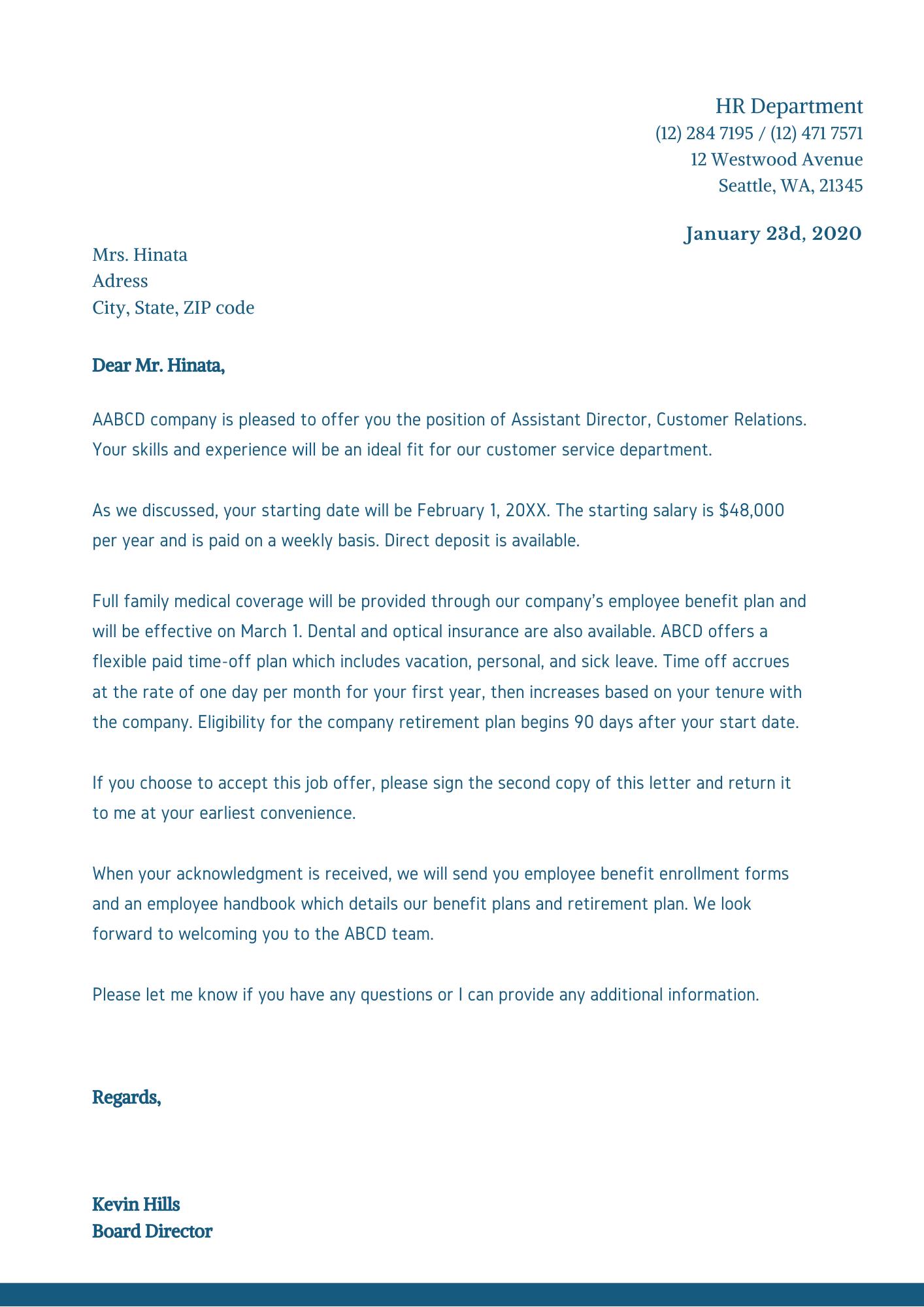 приклад ділового листа англійською