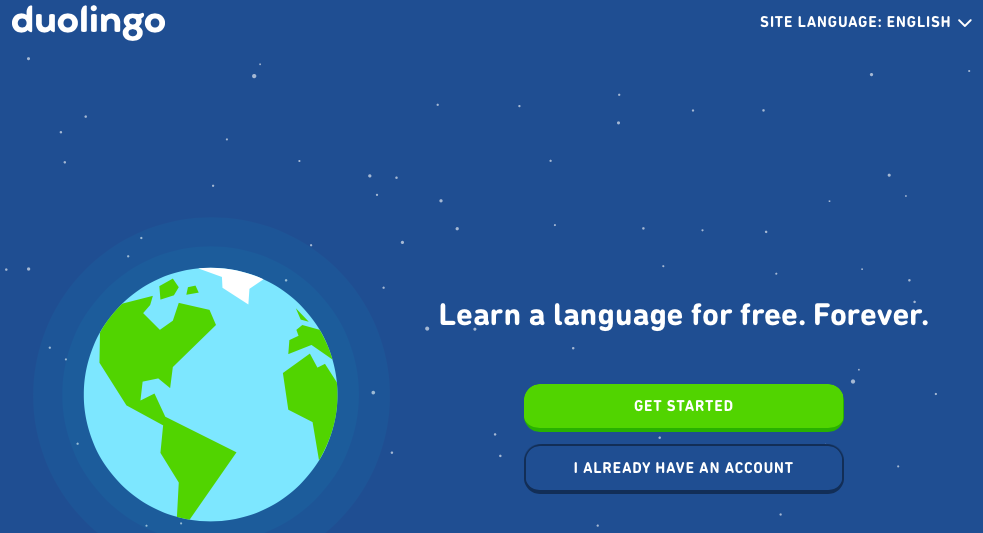 Duolingo app for learning english