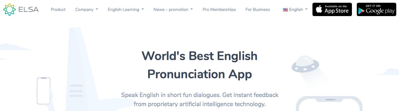 ELSA Speak app for learning english