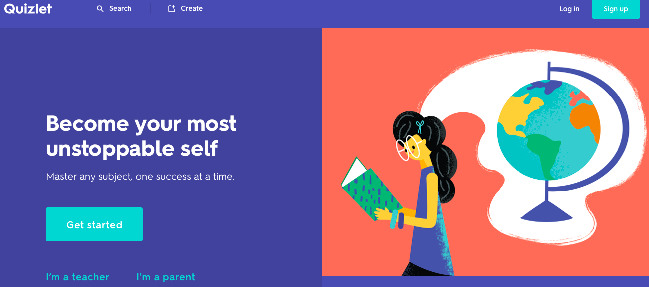 Quizlet app for learning english