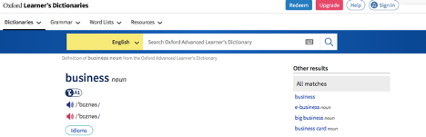 Oxford Advanced Learner's Dictionary app for learning english