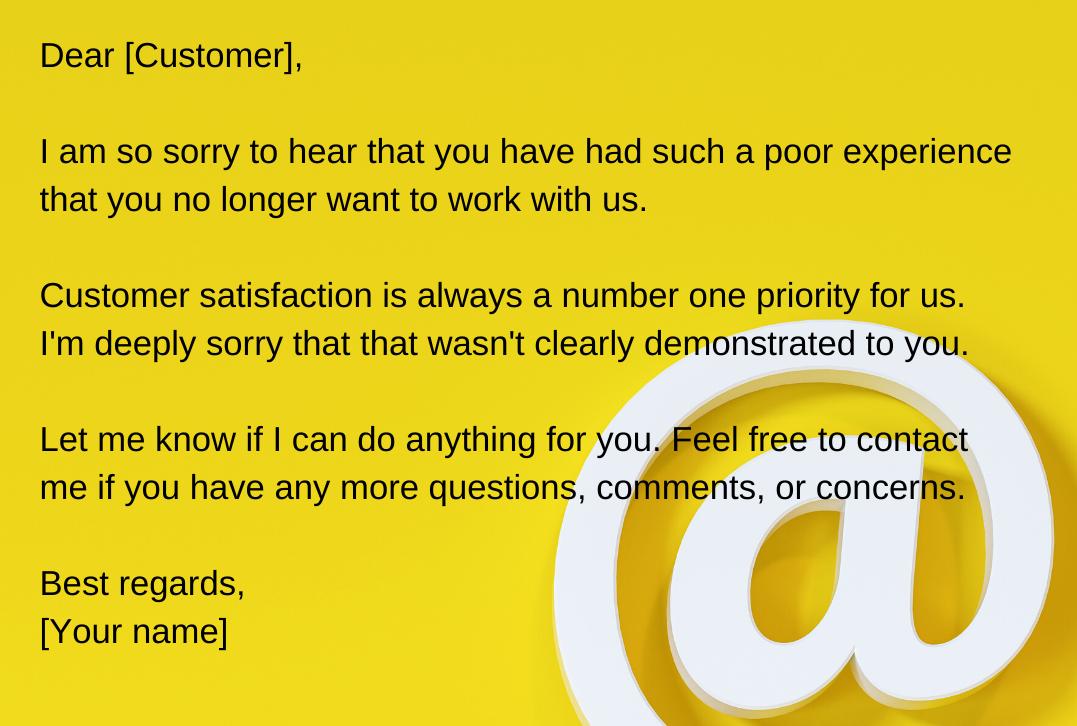 customer email ответ на негативный отзыв