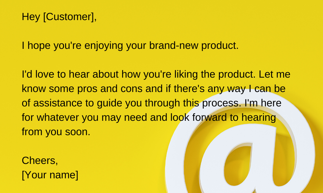 customer follow-up email