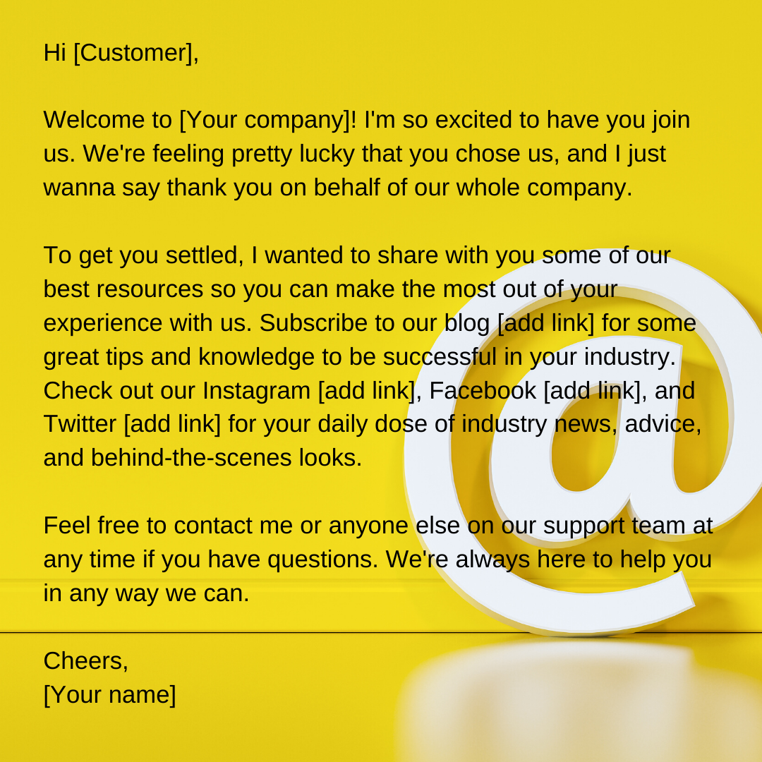 customer email in english письмо-приветствие
