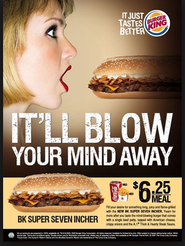 english for advertising burger king